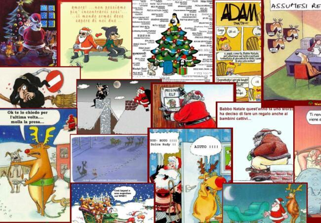 Immagini Natalizie Umoristiche.Vignette Umoristiche Di Natale